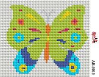 Алмазная вышивка «Бабочка». АВ-5015 (А5). Полная выкладка