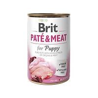 Brit (Брит) PATE & MEAT for Puppy - консервы для щенков 400 гр