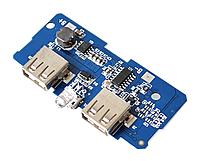 Стабилизатор понижающий два USB DC-DC 3.2-4.2 В на 5В 2А