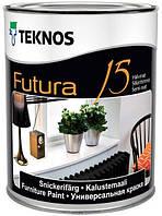 Краска Futura 15 Teknos для дерева и металла, 9л