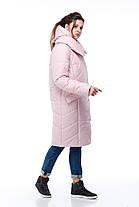 Стильный и модный бочонок-пуховик, для сильных морозов до -30! зимний пуховик 2019 в размерах 42-54, фото 3