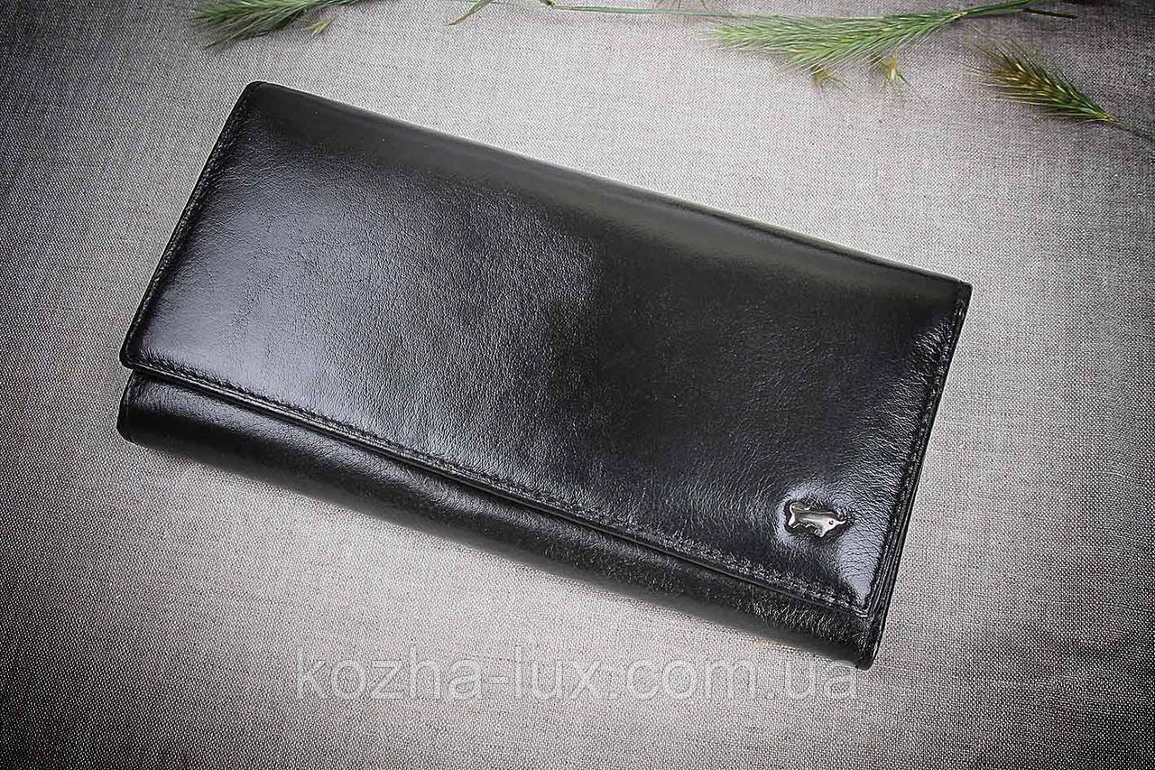 Кошелек женский кожаный B-601 чёрный Braun Buffel, натуральная кожа