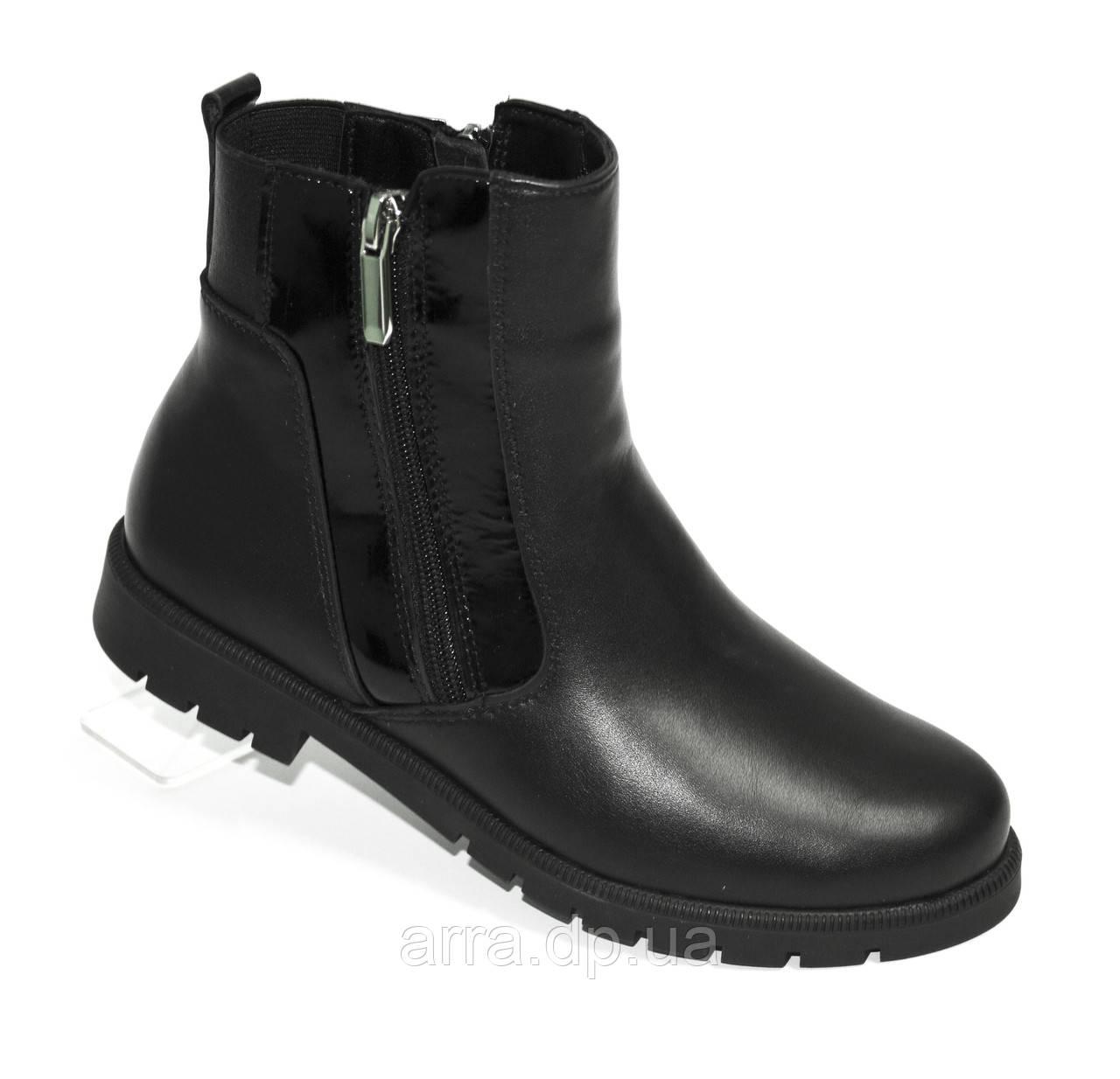 Зимние ботинки с двумя молниями