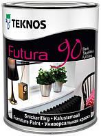 Эмаль для внутренних и внешних работ Futura 90 Teknos, 2.7л