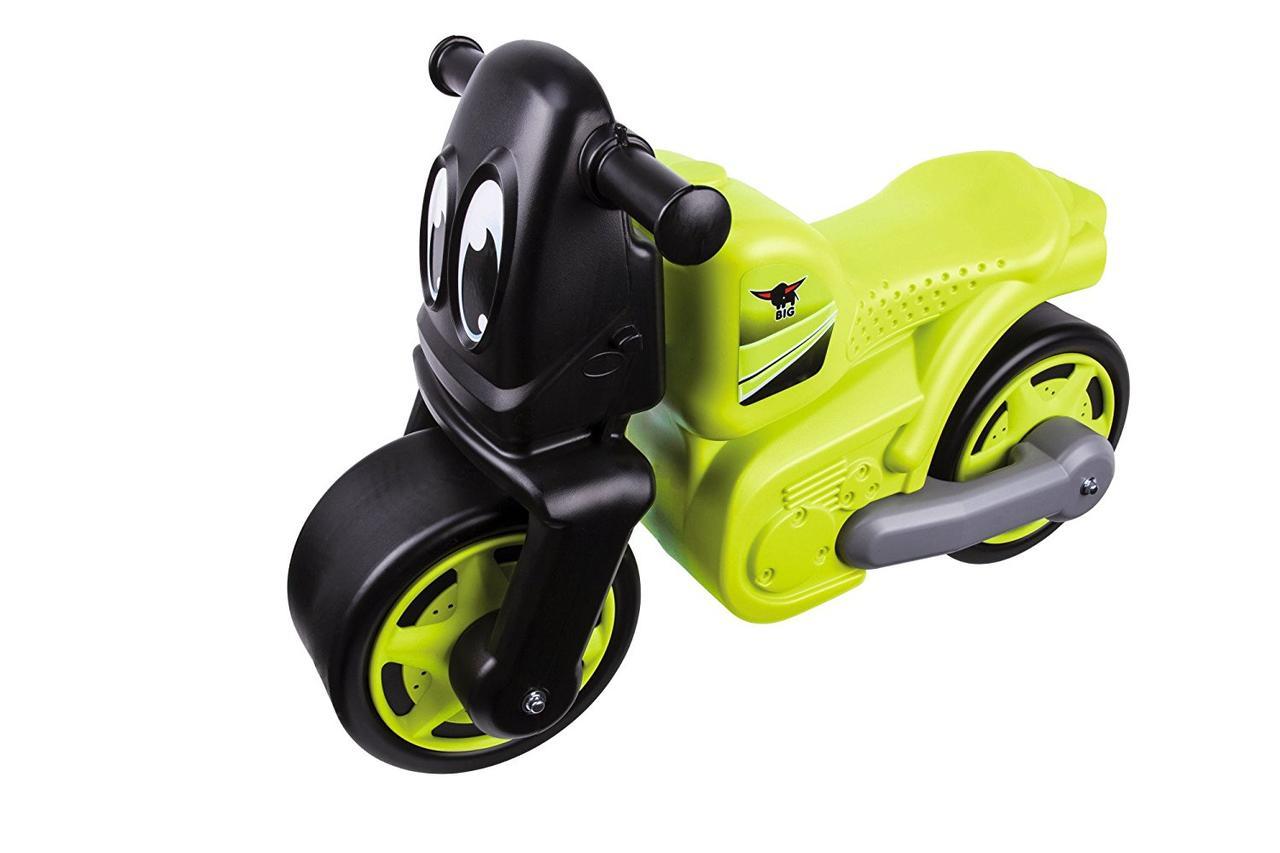 Детский мотоцикл беговел толокар Big велобег и защитные накладки 56328