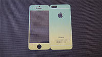 Защитное стекло DK-Case для Apple iPhone 5/5S радуга градиент back/face (yellow/green)