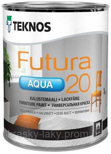 Краска Futura Aqua20, 40, 80 для металла, дерева Teknos, 9л