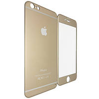 Защитное стекло Titanium for Apple iPhone 6/6S face/back gold