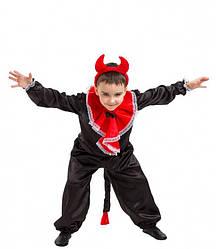 Карнавальный костюм ЧЕРТИК, ЧЕРТЁНОК для мальчика 4.5,6,7,8,9 лет детский маскарадный костюм ЧЕРТИКА ЧЕРТЕНКА