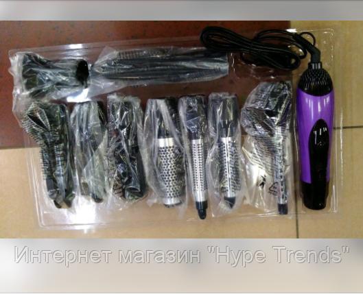 Фен-щетка для волос 10 в 1 Gemei GM 4835. Воздушный стайлер. В Украине