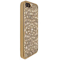 Чехол-накладка DK-Case силикон с хром бортом Diamond Lotos для Apple iPhone 5/5S (gold)