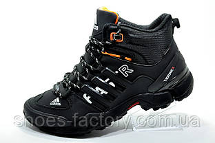 Зимние кроссовки в стиле Adidas Terrex Fast x Gore-Tex, Black\Orange