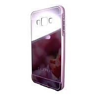 Чехол-бампер DK-Case металл с пластик крышкой зеркало для Samsung A3 (grey)