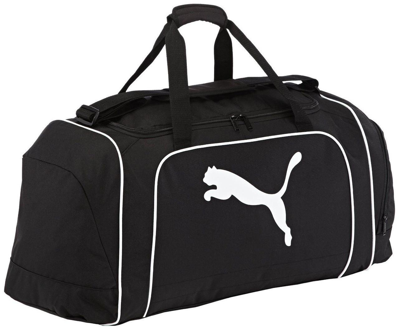 Сумка спортивная Puma Team Cat Medium Holdall Bag 071196 01 пума