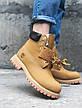Жіночі зимові хутряні черевики в стилі Timberland Boots 2 кольори в наявності, фото 2