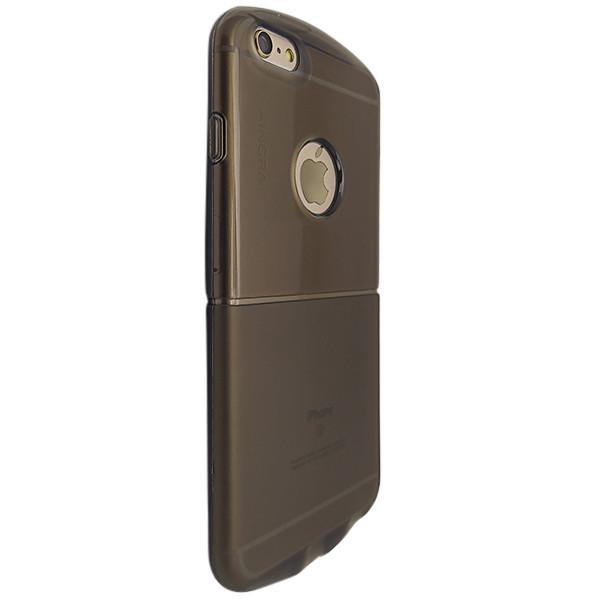 Накладка силикон Круглый с окошком под лого for Apple iPhone 6 Plus (dark)