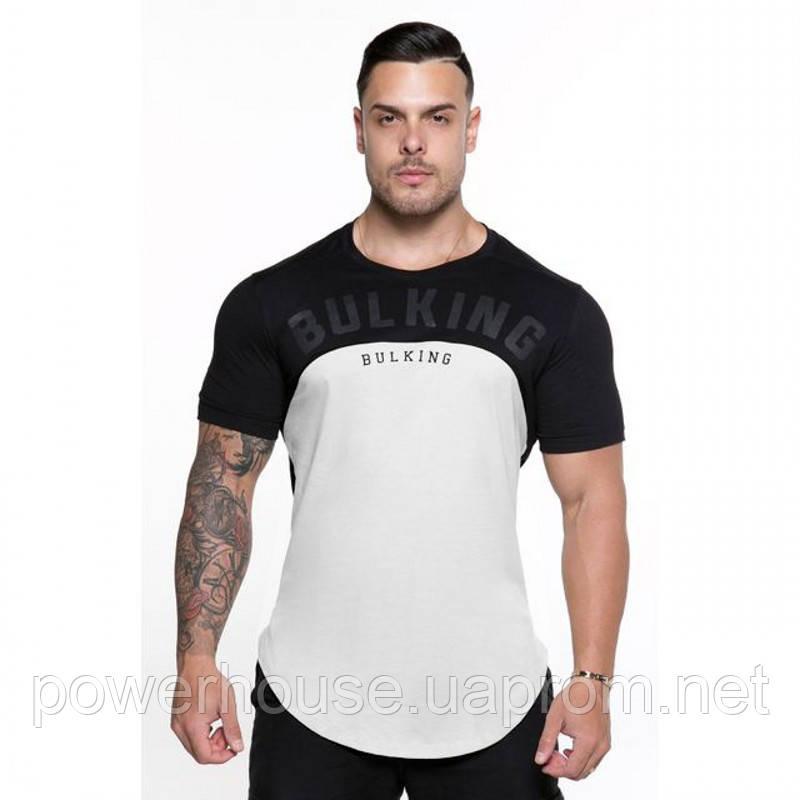 8b682b3d8cf61 Стильная спортивная мужская футболка Bulking черно-белая - купить по ...