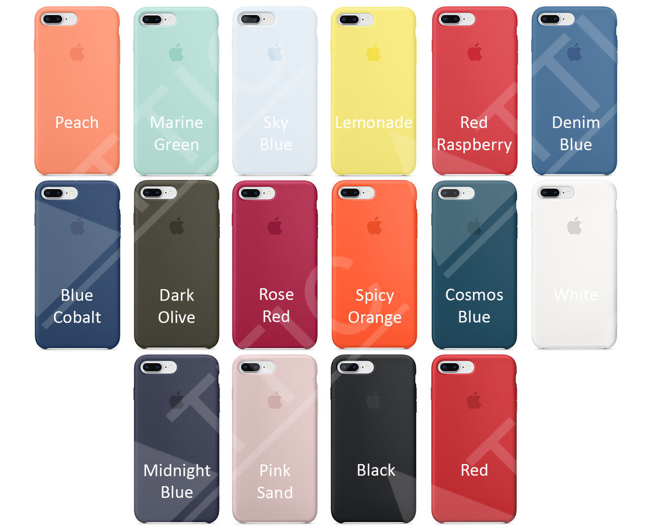 new products 1998c 7a3b2 Накладка Silicone Case original for Apple iPhone 7/8 Plus (dark olive) -  Bigl.ua