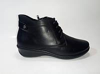 Женские кожаные демисезонные ботинки на шнурках ТМ Inblu, фото 1