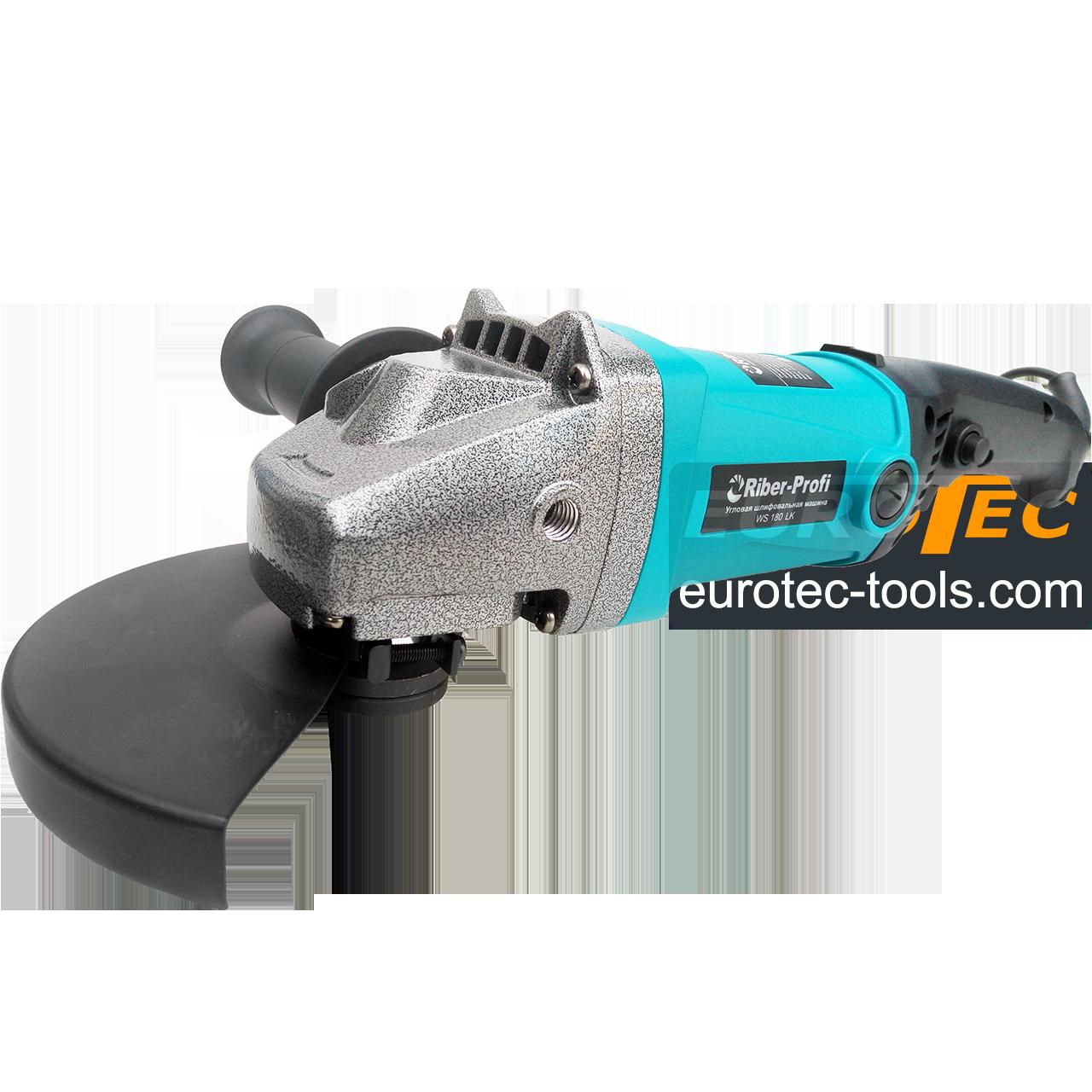 Болгарка 180 мм Riber WS 180LK, углошлифовальная машина без регулировки оборотов, угловая шлифмашина, УШМ КШМ