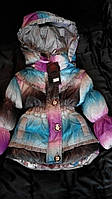 Детская осенняя курточка для девочек 1,2,3 года, 2 расцветки