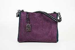Дизайнерская модель сумки зеленый Фиолет 8147
