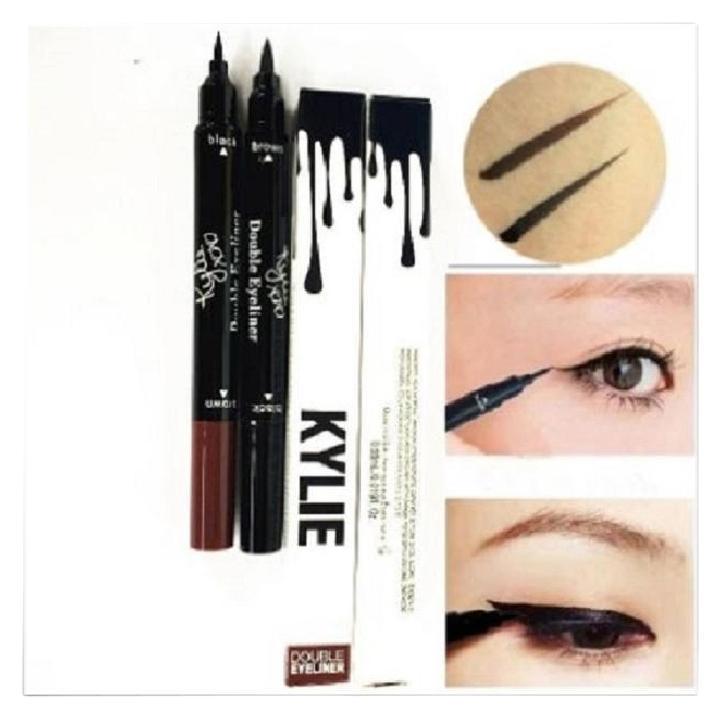 Двойной суперстойкий карандаш для глаз в стиле Kylie