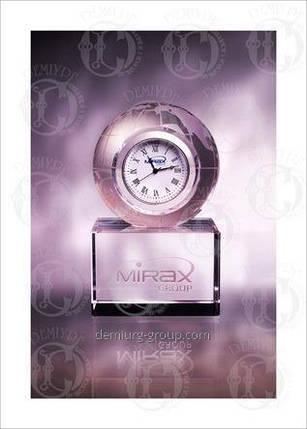Часы в стекле корпоративные, фото 2