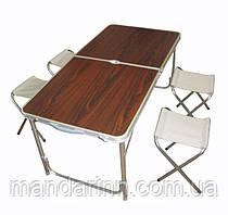 Стол раскладной для пикника + 4 стула в чемодане.