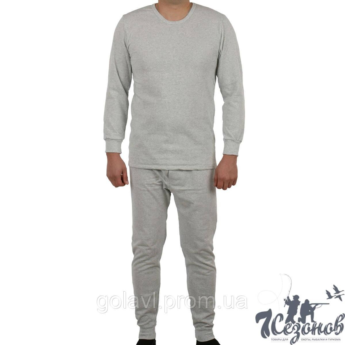 Утепленное нижнее белье мужское, цвет серый
