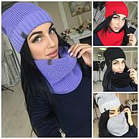 Набор шарф-хомут и шапка Цвета ТВ, фото 1