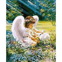 """Картины по номерам 40 х 50 см. """"Ангел с зайчиком"""", фото 1"""