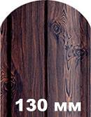 АКЦИЯ!!! Двухсторонний Printech золотой дуб, темное дерево, штакетник металлический (штакет) 0,4мм 130мм