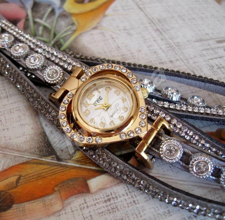 5dcdf3ba0172 Женские часы-браслет со стразами CCQ Gray  115 грн. - Наручні ...