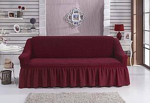 Чехол универсальный на  диван бордовый (Турция)