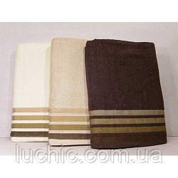 Полотенце банное махровые 140/90 см 3 шт в уп.