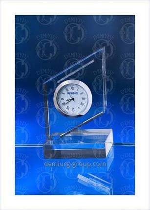 Стеклянные часы корпоративные, фото 2
