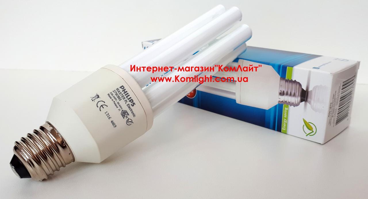 Лампа PHILIPS PL-E 27W/865 E27 230-240V