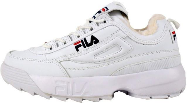 cd0c33f0f9a3 Женские зимние кроссовки Fila Disruptor 2 White (Фила Дисраптор 2, белые)    на