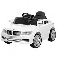 Детский электромобиль BMW с кожаным сиденьем, M 3271EBLR-1 белый