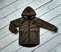 Куртка  двухсторонняя для мальчика 5-10 лет с капюшоном , осень, фото 1