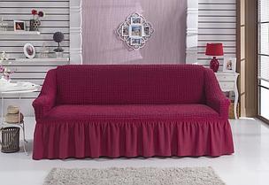 Чехол на 3-х местный диван фуксия (Турция)