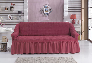 Чехол на 3-х местный диван пыльно-розовый (Турция)