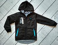 Куртка  двухсторонняя для мальчика 5-10 лет с капюшоном , осень