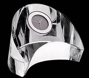 Эксклюзивные  часы  в стекле оригинальной формы, фото 2