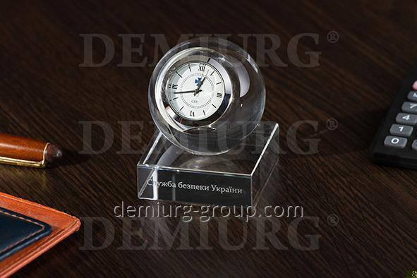 """Эксклюзивный корпоративный подарок """" Часы в стеклянном шаре"""", фото 2"""