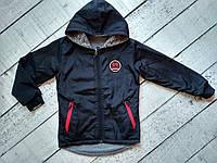 Куртка  двухсторонняя для мальчика 8-13 лет с капюшоном , осень, фото 1