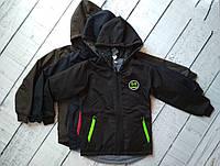 Куртка  двухсторонняя для мальчика 8-13 лет с капюшоном , осень