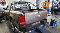 Защитная дуга в кузов Volrswagen Amarok с защитой кабины DELUX  Roll Bar