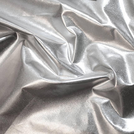 """Плащевка металлик """"фольга"""" серебро, фото 2"""